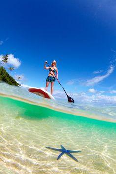 Stand up paddle boarding at the Lomani Island Resort Sup Stand Up Paddle, Sup Paddle, Sup Surf, Gopro, Fiji Beach, Hawaii, Sup Yoga, Standup Paddle Board, Surf City