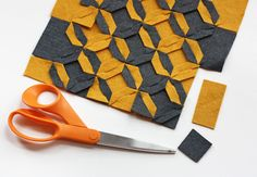 How About Orange: Make a modular felt trivet