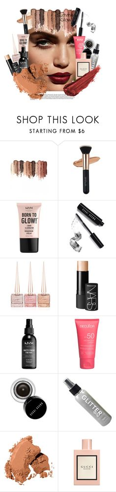 """""""summer glow"""" by faye-valentine ❤ liked on Polyvore featuring beauty, tarte, NYX, Bobbi Brown Cosmetics, Christian Louboutin, NARS Cosmetics, Gucci and By Terry"""