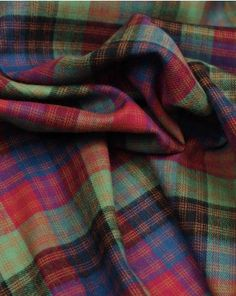 Brushed Cotton Fabric | Red & Green Plaid | Truro Fabrics