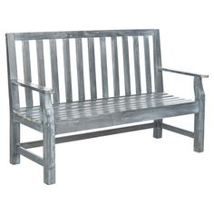 Evocative of English garden style, this classic acacia wood bench brings sophisticated appeal to your outdoor decor.    Product: