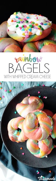 Brighten up your day with a colorful, fluffy bagel.