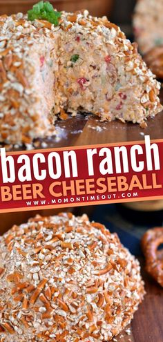 This food idea is what you want to serve at your next party! Bacon Ranch Beer Cheeseball is going to blow you away with its perfect medley of flavors and textures. Whether it be on game day or a birthday celebration, this appetizer will become a staple in your house! Cheese Ball Recipes, Appetizer Recipes, Appetizers, Doritos, Game Day Food, Yummy Snacks, Birthday Celebration, Ranch, Bacon