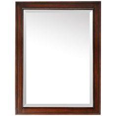 "Avanity Brentwood Walnut 24"" x 32"" Wall Mirror - #3K785   LampsPlus.com"