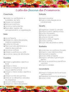 Organize sem Frescuras   Rafaela Oliveira » Arquivos » Checklist da faxina da Primavera