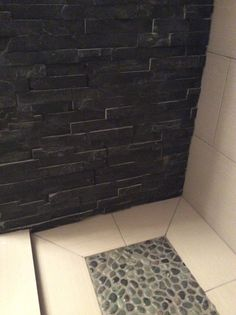 find this pin and more on black stone shower wcustom shower base
