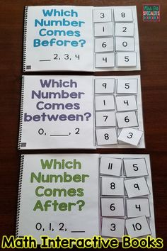Target number identification and sequencing skills with these interactive books. Students will naturally attend and want to participate while strengthening their math skills. These books are great for allowing nonverbal students to demonstrate their skill Preschool Math, Math Classroom, Kindergarten Math, Teaching Math, Teaching Tips, Math Skills, Math Lessons, Life Skills, Social Skills