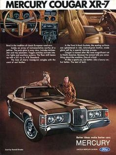 beware of cat Vintage Advertisement Ad A20-B 1990 Mercury Cougar XR7