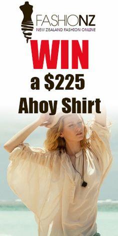 Win a $225 Ahoy Shirt #contest #competition #Ahoy #FashionNZ
