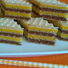 Romanian Desserts, Romanian Food, Croation Recipes, Fanta, Waffle Cake, Home Food, Food Cakes, Cookie Recipes, Sweet Treats