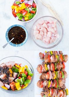 These amazing Grilled Teriyaki Chicken with sweet and savoury Teriyaki Sauce are absolutely delicious. Tender Chicken, crunchy peppers and Onion, these chicken skewers are perfect appetizers. Teriyaki Chicken Skewers, Grilled Chicken Skewers, Teriyaki Sauce, Kabob Recipes, Grilling Recipes, Appetizer Recipes, Cooking Recipes, Meals To Make With Chicken, Chicken Meals