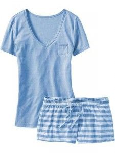 e4a109cf33ac Old Navy baby blue sleep shorts set