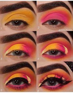 Swipe to see the Close-up 👉 for my last look ♥️ plz tag if u can 💜 Details Eye Makeup Steps, Eye Makeup Art, Skin Makeup, Makeup Inspo, Creative Eye Makeup, Colorful Eye Makeup, Simple Eye Makeup, Makeup Morphe, Indie Makeup