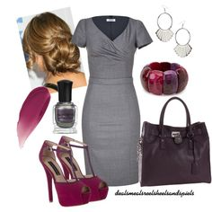 """grey w/ shades of purple"" by enjoytheview on Polyvore"
