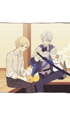 Natsume Takashi, Natsume Yuujinchou, Anime Crossover, Cute Comics, Boyxboy, I Love Anime, Manga Games, Touken Ranbu, Anime Shows