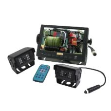 Wired Reversing Camera System with LCD Monitor & 2 Cameras Lcd Monitor, Cameras, Wire, Phone, Telephone, Camera, Mobile Phones, Film Camera, Cable