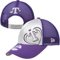 New Era Texas Rangers Youth Girls Satin Shimmer Adjustable Hat - Purple  Texas Rangers Hat 6fe141f02