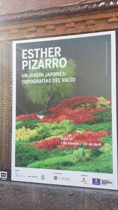 """Cartel de la Expo de Esther Pizarro """"Un Jardín Japones: Topografía del Vacío"""" en el Matadero Madrid. #Cartel #Affiche #Arterecord 2014 https://twitter.com/arterecord"""