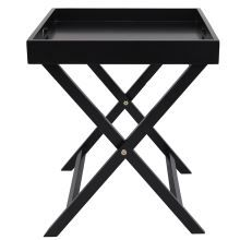Dante 40x40cm Butler Tray Table Black