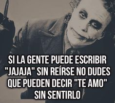 Muy cierto. Joker Frases, Joker Quotes, Frases Pro Whatsapp, Harey Quinn, Best Quotes, Life Quotes, Heath Ledger Joker, Postive Quotes, Inspirational Phrases