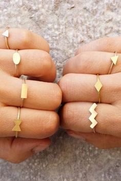 Go forth and assemble a collection of custom geometric rings.