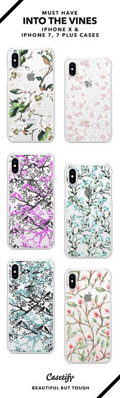 30 Most Popular Into The Vine iPhone X, iPhone 7 Cases and iPhone 7 Plus Cases.  Shop them here ☝️☝️☝️ BEAUTIFUL BUT TOUGH ✨ - vintage, floral, flower, vines