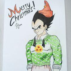 Vegeta wishes Merry Christmas! Art by Harri Hakala Christmas Art, Manga, Anime, Manga Comics, Cartoon Movies, Anime Music, Anime Shows