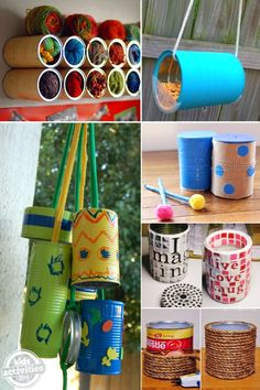 Don't throw your coffee cans away! Here are some things you can make with a coffee can.