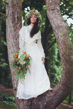 Emily Jane Morgan - Norfolk Brides. Curly boho bride.