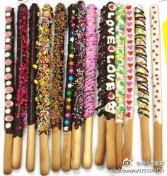 Brilliant party idea - decorated bread sticks