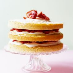 It looks spectacular and tastes even better but this remarkable strawberry and lemon cake is so easy to make