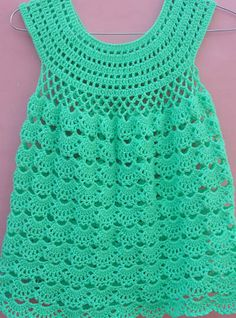 baby dress lacy frock pattern by AamraGul The Crochet pattern share with the same video instruction. Crochet Baby Dress Free Pattern, Crochet Toddler Dress, Crochet Dress Girl, Baby Girl Crochet, Crochet Baby Clothes, Crochet Patterns, Crochet Baby Dresses, Sewing Patterns, Kids Crochet