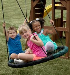 Swing-N-Slide Monster Web Swing - Ideal for cultivating inclusive and interactive play, the Swing-N-Slide Monster Web Swing has a weight capacity of 250 lbs. and can hold up to three. 3 Kids, Cool Kids, Baby Kids, Outdoor Fun For Kids, Outdoor Play, Outdoor Living, Web Swing, Swing And Slide, Rope Swing