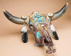 Genuine Rustic Steer Skull 28x21.5 -Southwestern (ps87) - Mission Del Rey Southwest