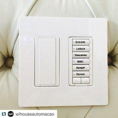 #Repost @wihouseautomacao ・・・ Cliente Wi House 2015 !! Além do controle através do tablet e smartphone o controle manual é imprescindível para a praticidade do dia a dia !!#wihouse#automacao#automacaoresidencial#lutron #lutronlighting#lutronsystems