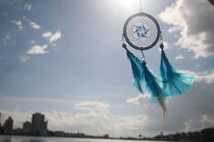 Filtro dos sonhos Azul e Branco
