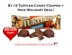 HOT COUPON! Print a $1/2 Turtles Candy coupon to grab some candy bars at Walmart (or your favorite store!) Only $0.84 at Walmart!  Click the link below to get all of the details ► http://www.thecouponingcouple.com/1-002-turtles-candy-coupon-nice-deal-walmart/  #Coupons #Couponing #CouponCommunity  Visit us at http://www.thecouponingcouple.com for more great posts!