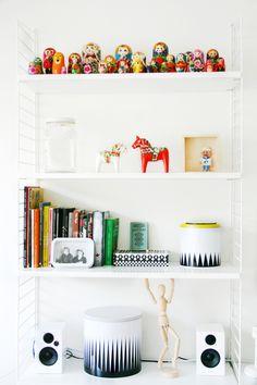Shelves and bric a brac