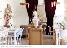 In Western Cape Town, there is a delightful dream in pastels and vintage crockery hidden among the streets, The Birdcage Cafe&nbspis a gift shop and cafe in Africa Decor, Vintage Crockery, Cafe Shop, Pretty Pastel, Bird Cage, Places To Eat, Shabby, Table Decorations, Interior Design