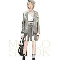 Covet Fashion, Look Fashion, Fashion Art, Girl Fashion, Fashion Outfits, Fashion Design Drawings, Fashion Sketches, Girls Dress Up, Beautiful Anime Girl