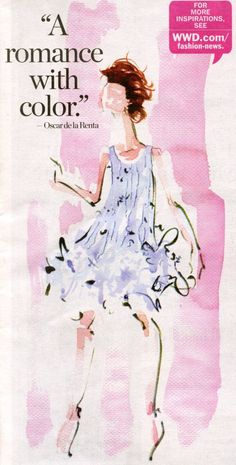 A romance with color |  via tumblr of Oscar de la Renta
