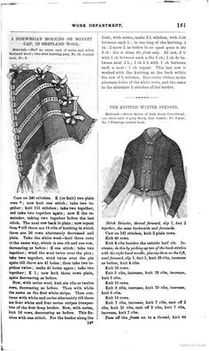 Vintage Knitting PATTERN to make Diamond Bed Jacket Sweater Fichu Neck ScarfTie