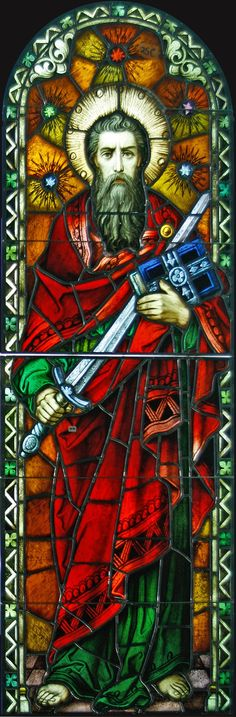 Conserved stained glass window