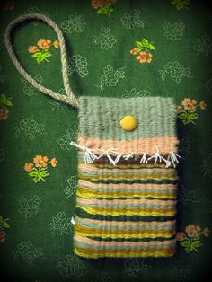 Cute woven bag - directions for woven cord for handle