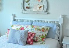 This would be such a cute idea to transfer a kids crib room to their first grown up bedroom! Love it