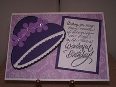 This card was made with the Forever Young Cricut Cartridge.