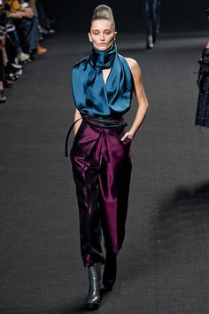 Haider Ackermann at Paris Fashion Week Fall 2012 - Runway Photos Bold Fashion, Fashion Colours, Colorful Fashion, Fashion 2017, Couture Fashion, Runway Fashion, Fashion Design, Paris Fashion, Fashion Shoot
