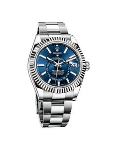 Buy Watches for him - Rolex Sky-Dweller blue model You are in the right place about watch gucci Here we offer you the mos - Omega Speedmaster Racing, Sport Watches, Cool Watches, Watches For Men, Stylish Watches, Tag Heuer, Breitling, Luxury Watches, Rolex Watches