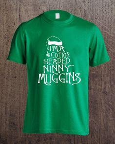 'Elf' film inspired T-shirt 'I'm a cotton headed ninny muggins' Cotton Headed Ninny Muggins, Elf, Printing, Inspired, Mens Tops, T Shirt, Fashion, Supreme T Shirt, Moda