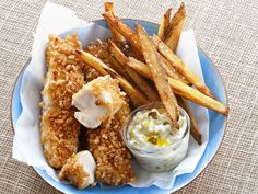 Baked Fish and Chips from FoodNetwork.com